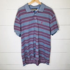 BROOKS BROTHERS Striped Short-Sleeve Polo Shirt L